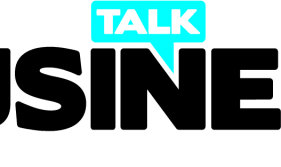 Talk Business Logo Cyan